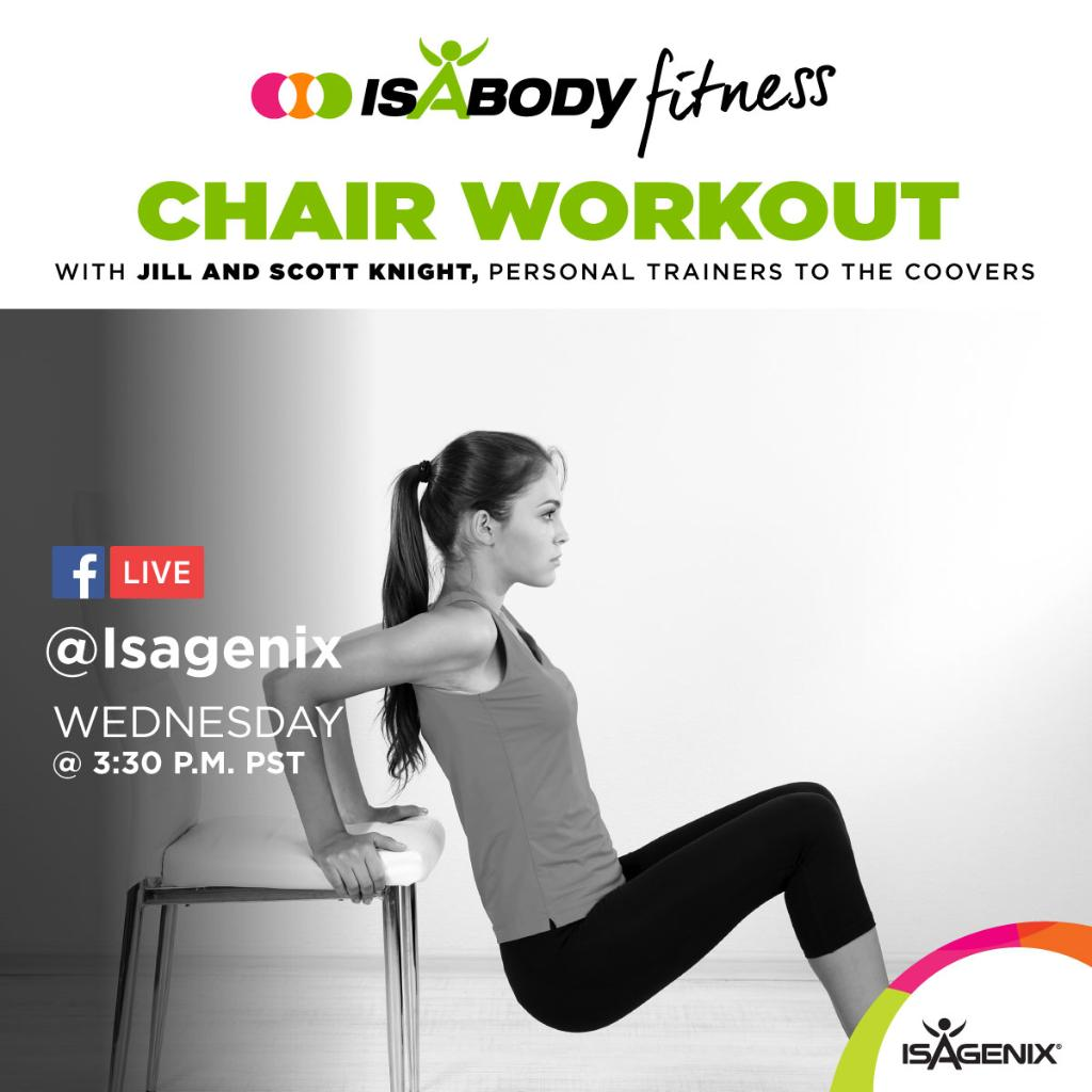 30 minute chair workout for seniors how to make a cover out of sheet isagenix on twitter today s isabody fitness features unique join us in minutes facebook live