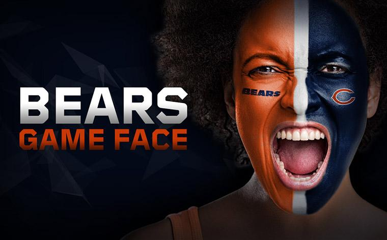 Get your #BearsGameface on. Literally.  #ATLvsCHI #GoBears  🐻: