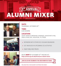 attn uh electrical and computer engineers the ece alumni mixer will be held on october 26 at saint arnold s brewery  [ 923 x 1200 Pixel ]