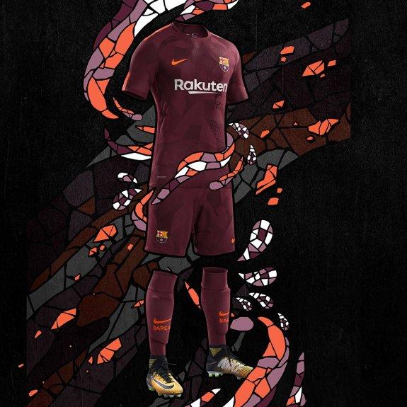 FC Barcelona tercera equipación 17 18