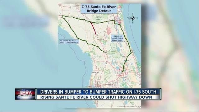 I-75 will remain open as flood waters recede around Santa Fe River