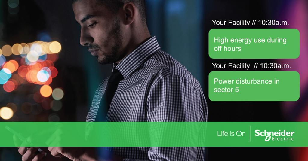Have your facility text your mobile phone! Find out how:  #IoT #EcoStruxure