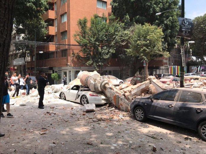 Fotos del terremoto en México 2017