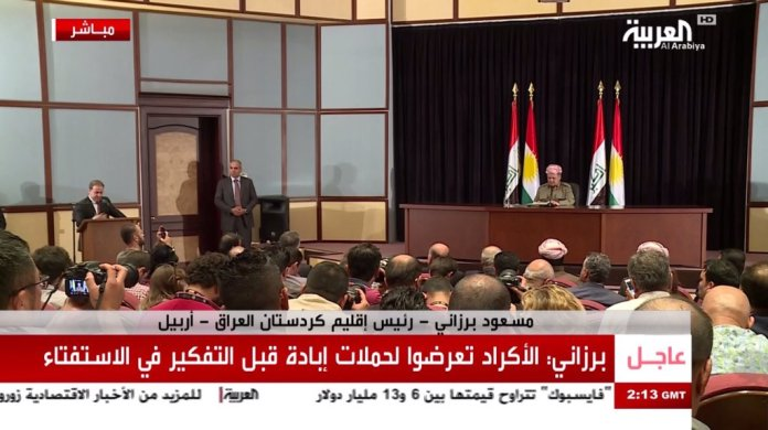 ''We are never going back to #Baghdad to renegotiate failed partnership,'' #Kurdistan President #Barzani says