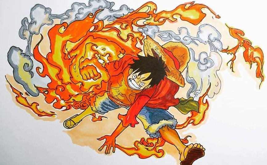 One piece, luffy gear 2 first time in a movie. One Piece Wallpaper When Does Luffy Use Red Hawk