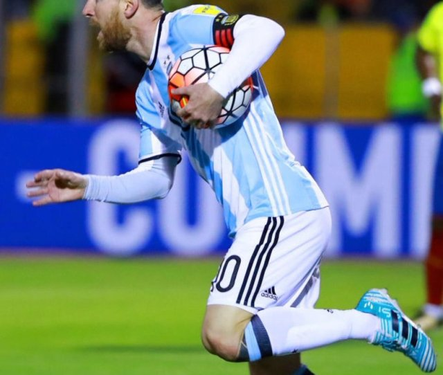 Mesqueunclub Gr Images Messi Celebrates A Goal He Scored A Hattrick In What Was A   Win Over Ecuador Argentina Has Qualified For The Wc