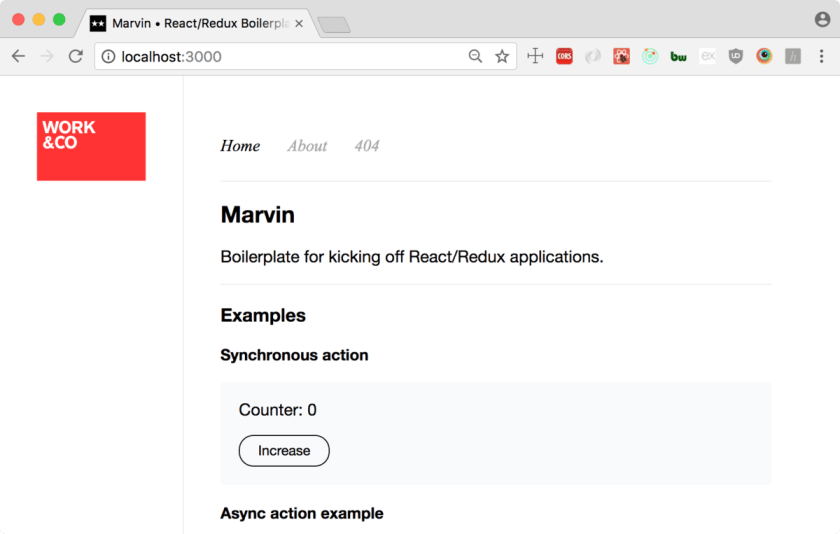 Marvin — React and Redux, Webpack 2 boilerplate  #ReactJS #Redux #Webpack