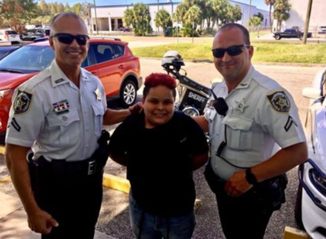 Traffic stop turns into help for bullied son and his mother