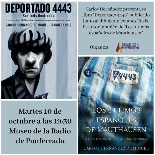 """test Twitter Media - El día 10 Octubre a las 19:30h se presentan en Ponferrada """"Los últimos españoles de Mauthausen"""" y @deportado4443 con @demiguelch #Bierzo https://t.co/ntRRhaOEpY"""