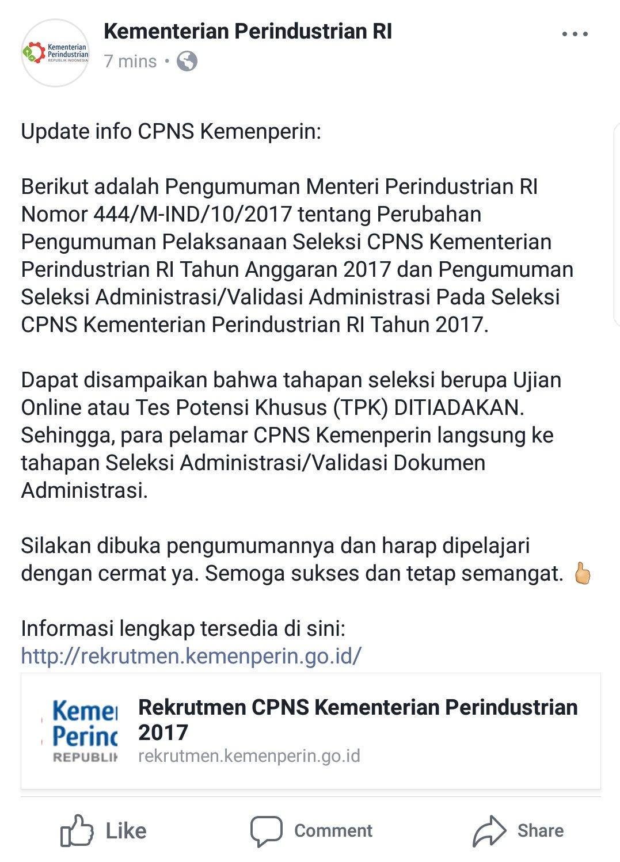 Rekrutmen Cpns Kemenperin.go.id : rekrutmen, kemenperin.go.id, Kemenperin, Twitter:,