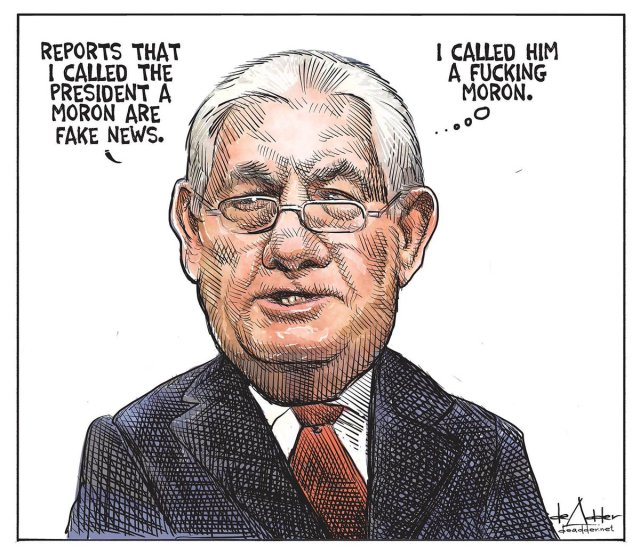 Tillerson is shown the door, for all the wrong reasons