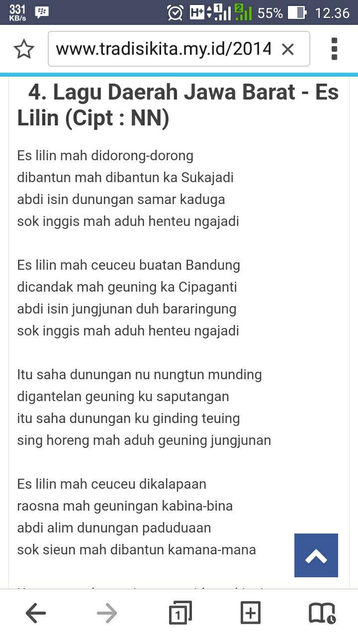 Lirik Lagu Es Lilin : lirik, lilin, Lirik, Lilin, Ceuceu, Kalapa