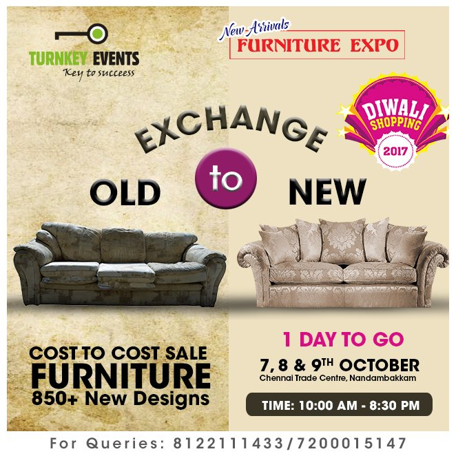 exchange old sofa for new in chennai costco furniture sofas turnkey events on twitter arrivals expo