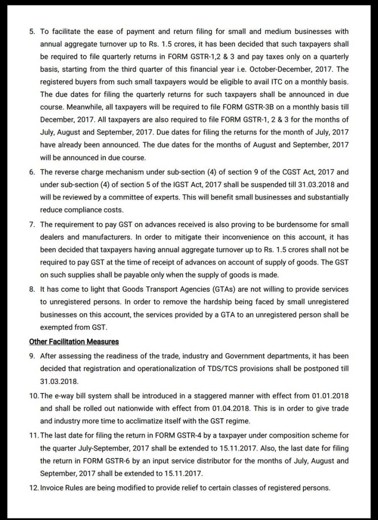 Press release for 22nd GST Council meeting | WhatsQ