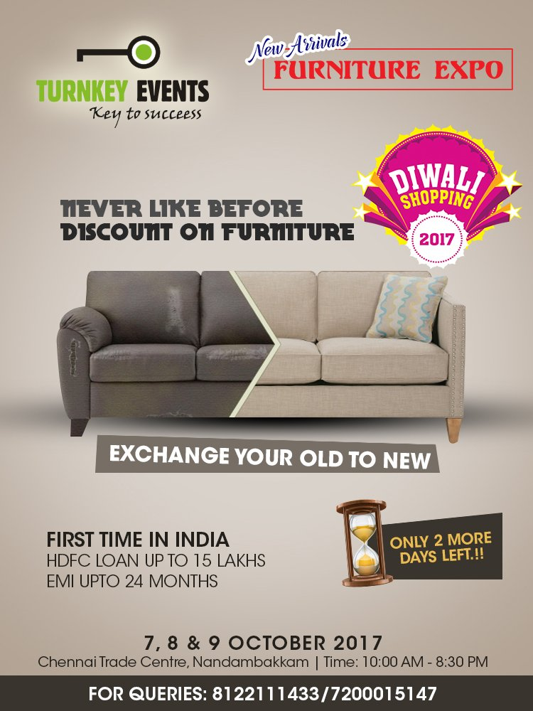 exchange old sofa for new in chennai top grain leather dogs turnkey events on twitter only 2 days more arrivals 6 24 am 7 oct 2017