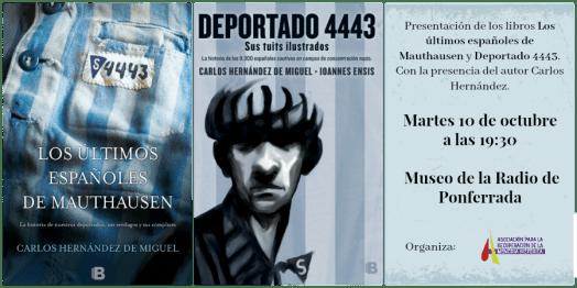 """test Twitter Media - Mañana 10 Octubre a las 19:30h se presentan en Ponferrada """"Los últimos españoles de Mauthausen"""" y @deportado4443 con @demiguelch #Bierzo https://t.co/nEFn7RUmQ6 https://t.co/bQ3QF8rzs3"""
