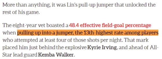 """@hoopshype """"The 8-year vet boasted a 48.4 effective field-goal % when pulling up into a jumper the 13th-highest rate among players"""" 2016-17 #underrated"""