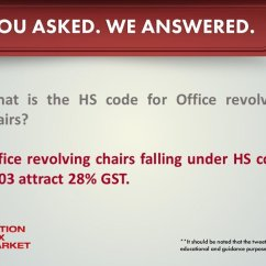 Revolving Chair Hsn Code Black And White Arm Gst Goi On Twitter What Is The Hs For Office Chairs Gstfaqs Gstsimplified
