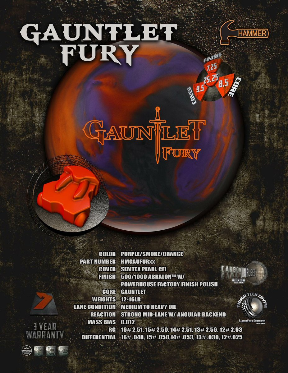 test Twitter Media - Specs of the new Gauntlet Fury...check it out! Available 10.24.17.  | https://t.co/eeRIbo4yQK | #HammerBowling #NothingHitsLikeAHammer #GauntletFury https://t.co/qwYip1f9rd