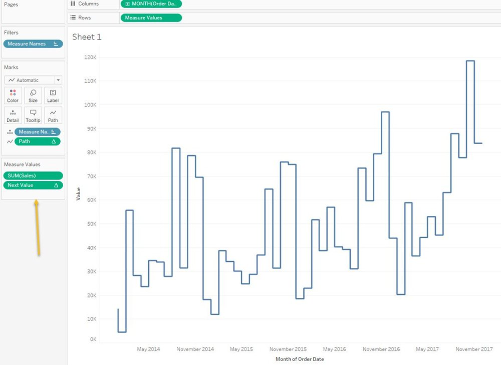 medium resolution of creating a step chart in tableau without any data prep modeling and it s only a few steps