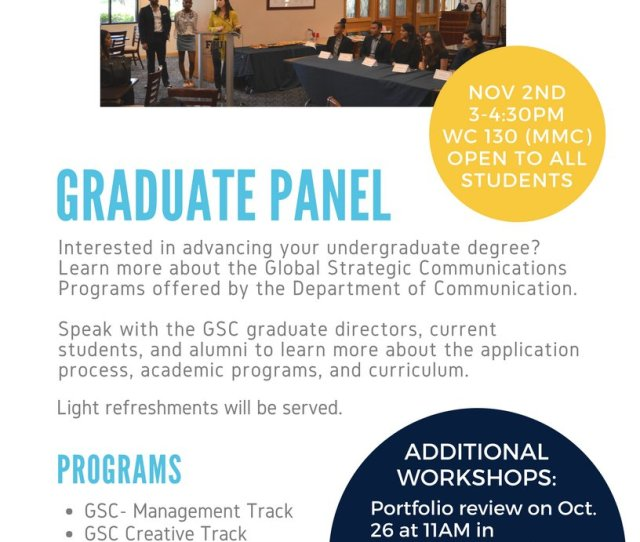 Fiu Scj On Twitter Interested In Grad School Gain Insight Directly From Students And Professors In The Global Strategic Comm Program