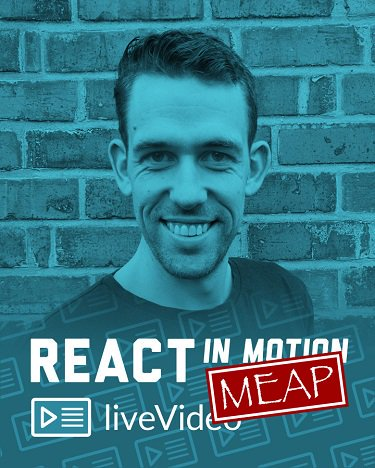 Check out React in Motion today for a steal - 50% off  #Reactjs @reactionaryjs