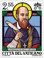 """Résultat de recherche d'images pour """"timbres vatican saint françois de sales"""""""