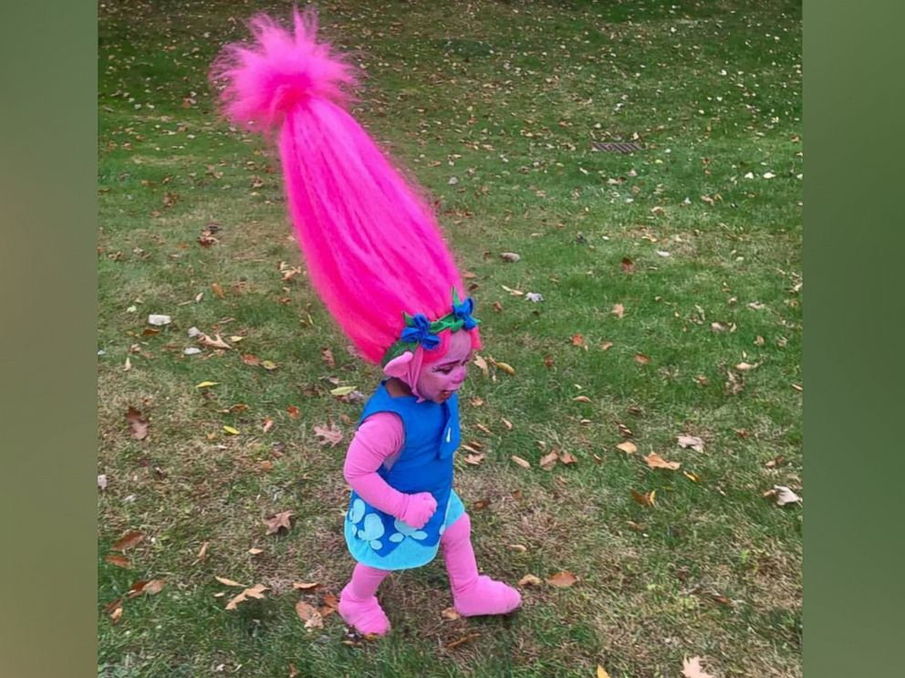 "One mom created a homemade ""trolls"" costume for her toddler and went viral via @10NewsWTSP."