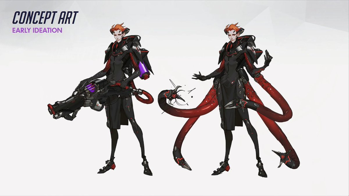 Moetron PKjd On Twitter New Hero Moira Concept Art That Bowie Skin Overwatch