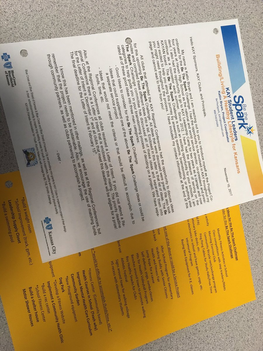 """Luke And Kate On Twitter: """"very Excited This #bethespark Mailing Went Out  Yesterday!!! Can't Wait To See Your Letter Of Intents On December First!!!"""