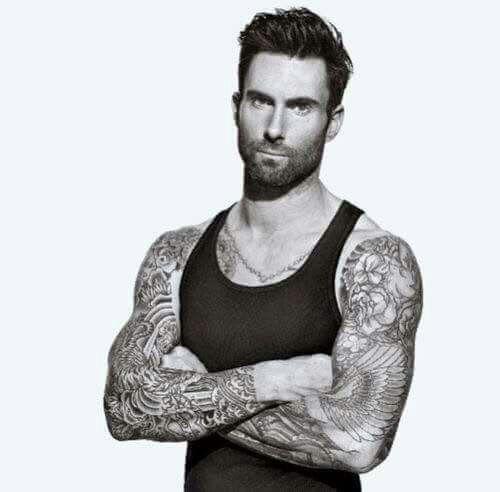 Adam Levine Tattoos Sleeve