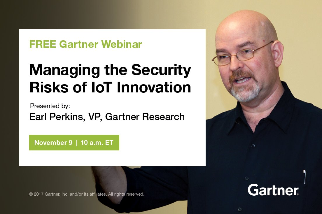 Webinar, 10 am ET: Managing the #Security #Risks of #IoT #Innovation