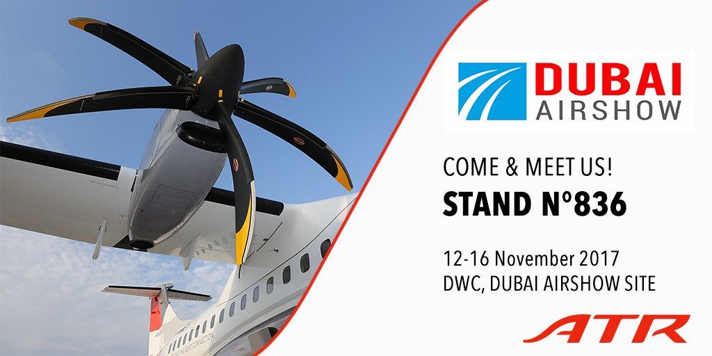 Resultado de imagen para Dubai Airshow 2017 ATR 72-600