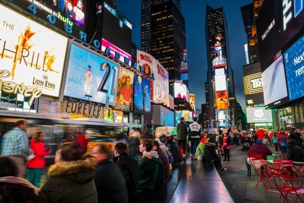 New York December Times Square