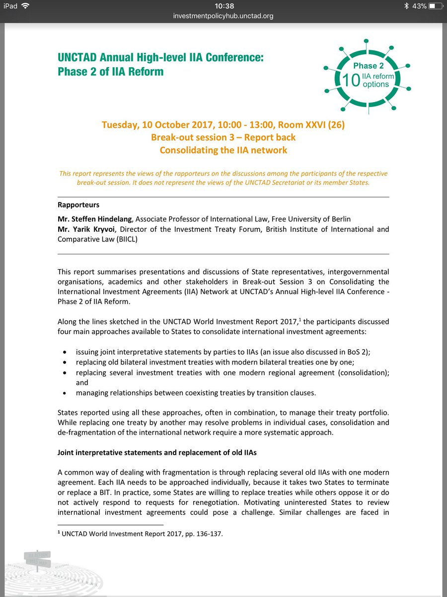 Investment Agreements Network Is Now Available Online  Http://investmentpolicyhub.unctad.org/upload/documents/bos%203_Agenda%20And%20Report%20Back.pdf  …