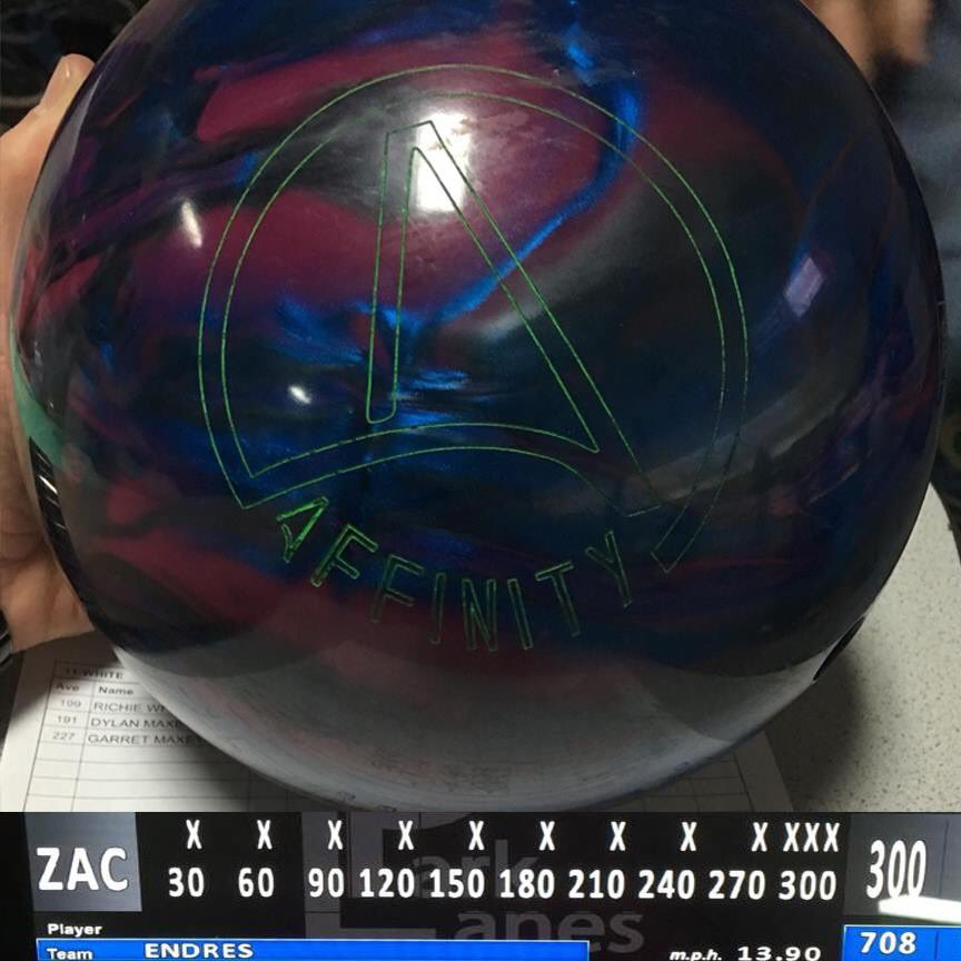test Twitter Media - Zach Endres had a nice night shooting 300 with his Affinity! #Ebonite #Affinity https://t.co/Atf7Xax2mO