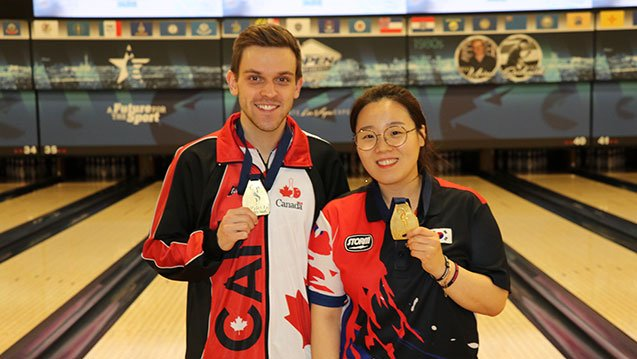 test Twitter Media - The 2017 @WorldBowling Championships concluded Monday with the crowning of the Masters champions at the South Point Bowling Plaza in Las Vegas. Congratulations to Canada's Francois Lavoie and Korea's Jung Dawun on the victories. Read more now! https://t.co/BexN9G5onY https://t.co/SavXdlzAcM