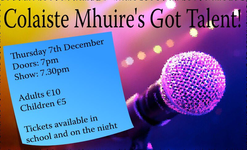 Don't miss our annual Talent Show this Thursday at 7.30pm!