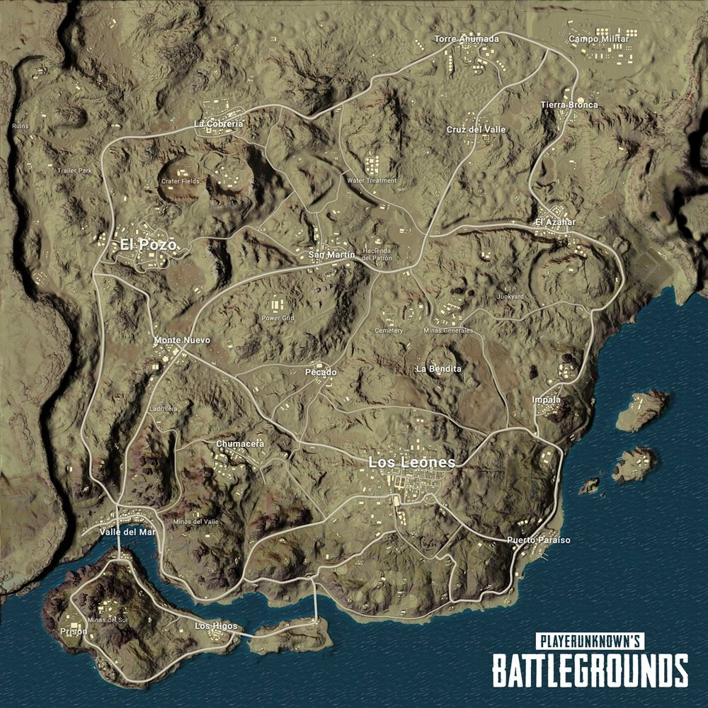 PlayerUnknown's Battlegrounds Desert Map