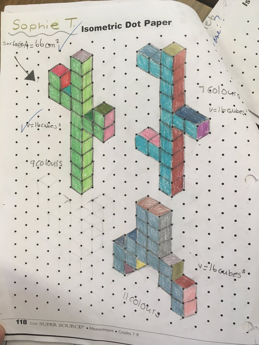 hight resolution of Hard Isometric Dot Paper Drawings