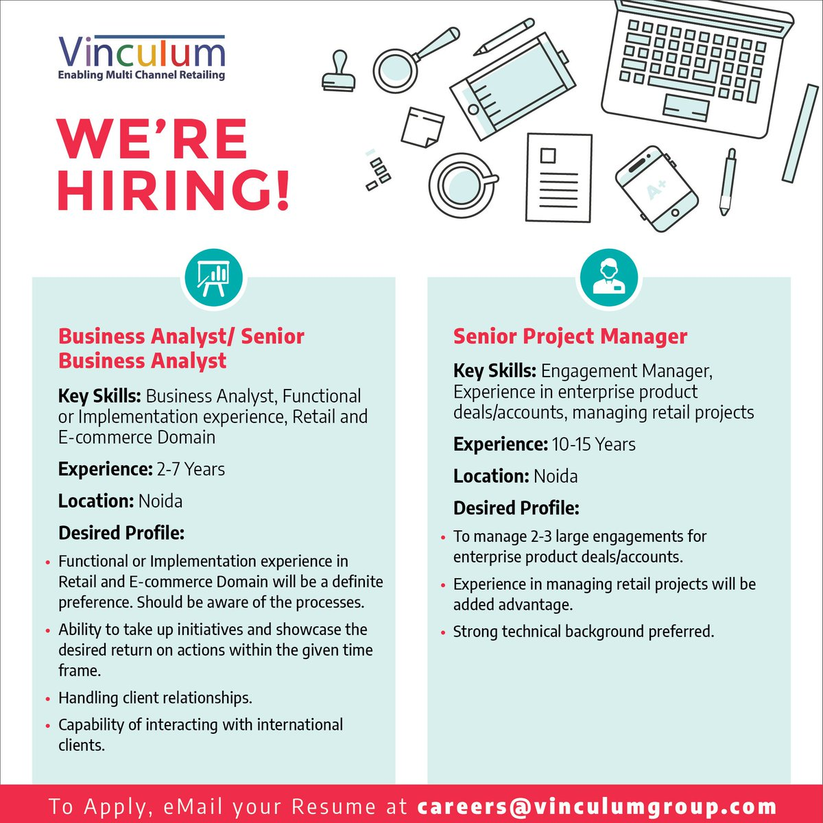 A Business Analyst Or Senior Project Manager For Latest Openings  Announcements Follow Us At Vinculum_It Or