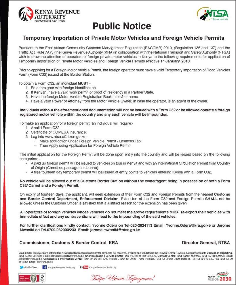 Motor Vehicle Transfer Form Kra