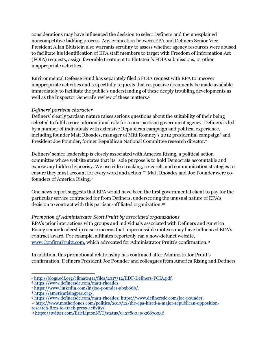 "Eric Lipton On Twitter ""Environmental Defense Fund Calls For EPA IG"