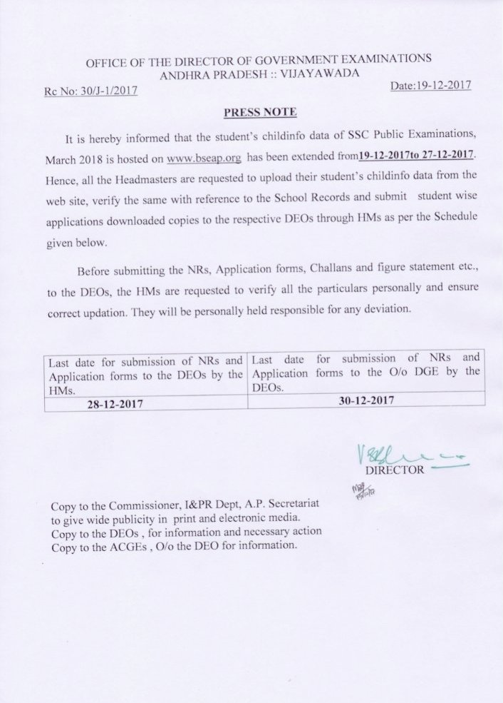 How to Fill AP SSC Online Application Form 2018 at bse.ap.gov.in ...