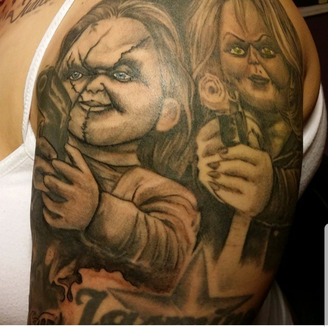 Chucky Full Tattoos
