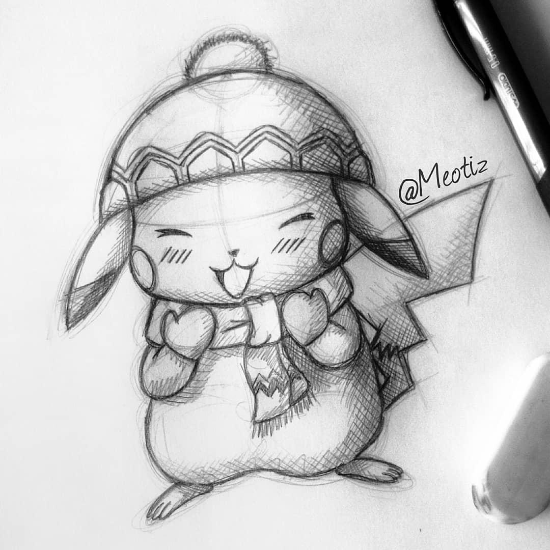 15 Best New Pokemon Christmas Pikachu Drawing