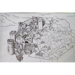 Medieval Village Drawing 1