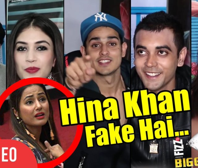 Viral Bollywood On Twitter Therealityshows Watch Hinakhan Fake Hai Biggboss Evicted Contestants Reaction On Hina Hiten Arshi Priyank Luv