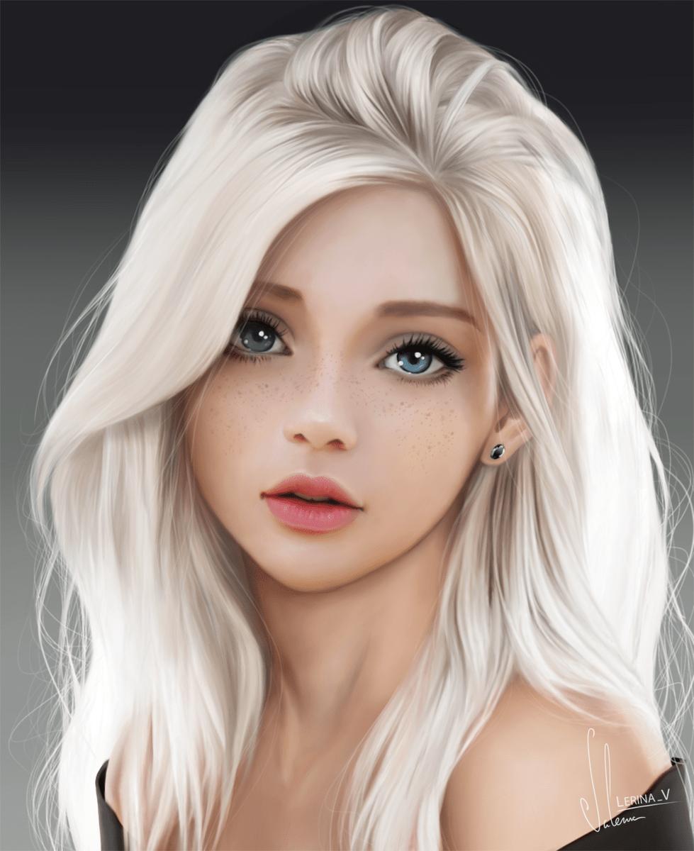 Girl Fanart : fanart, 🔸Valerina🔸, Twitter:, Fanart, Time), Portrait, Girl..., #digitalart, #girl, #drawing…