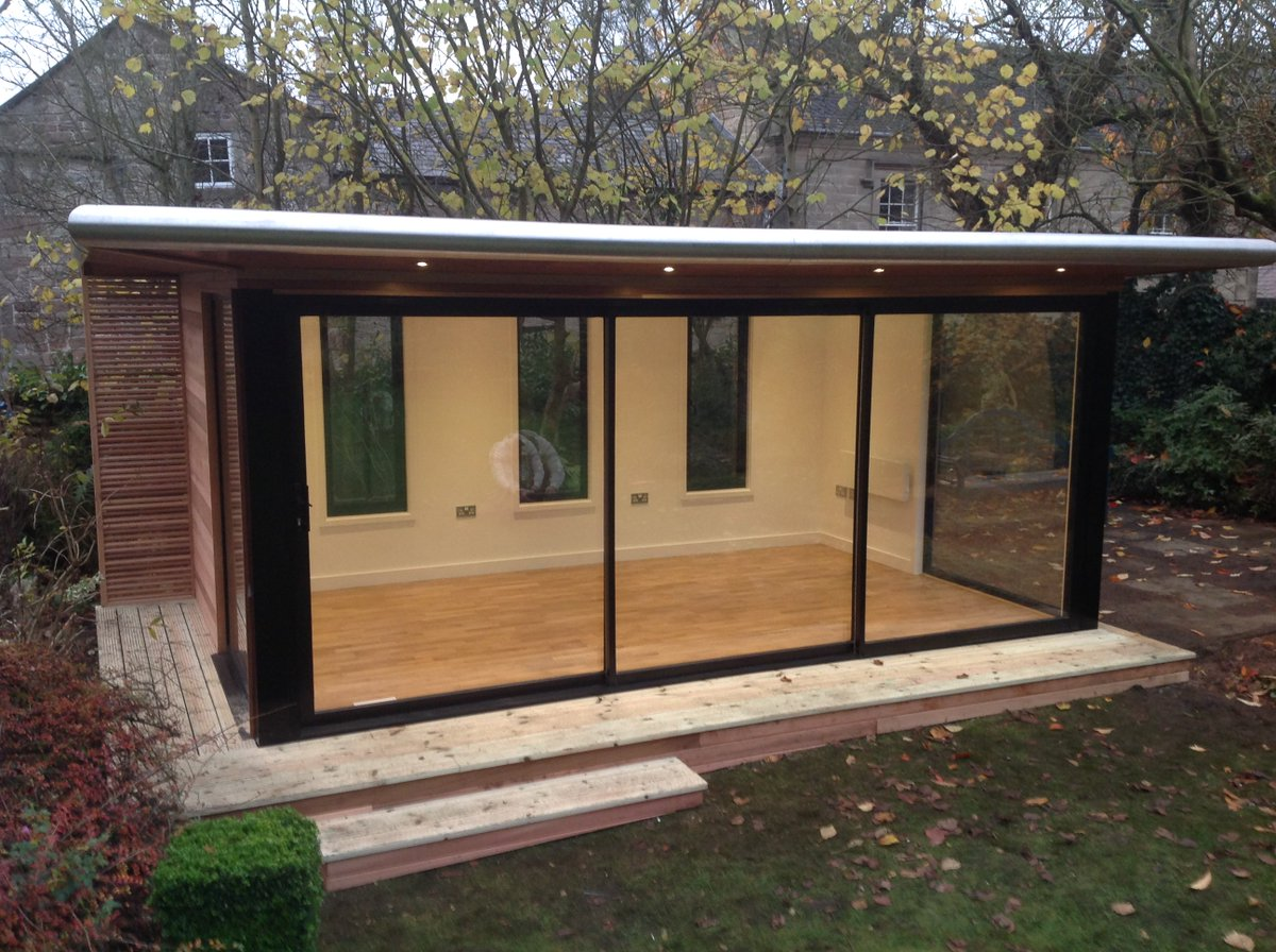 Cgr Uk On Twitter The Apprentice Style Contemporary Garden Rooms The Apprentice Design Is A Flat Roofed Secret Sloping High Bespoke End Room The Apprentice Is Erected With Vertical Or Horizontal Cladding